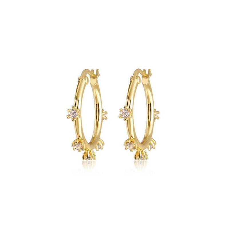 Adele Spike Hoop Earrings | Garian