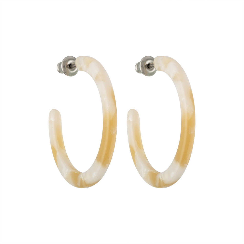 Mini Hoops in Taupe Shell | Garian