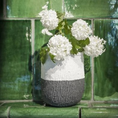 Grey and White 50/50 Basket | Garian