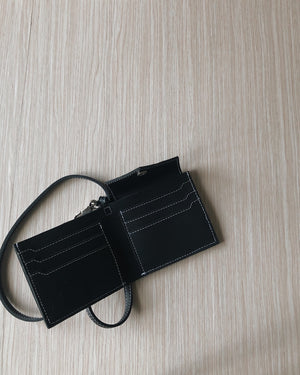 LANYARD WALLET — BLACK