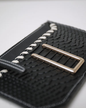 CARD WALLET — PYTHON BLACK
