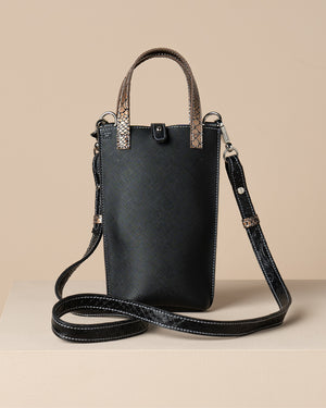 CITY PHONE BAG — SNAKE BLACK