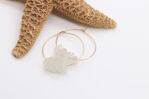 Grande Sea Glass Hoop Earrings