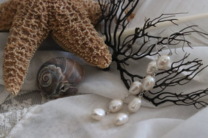 Pearl Quad Tiered Earrings