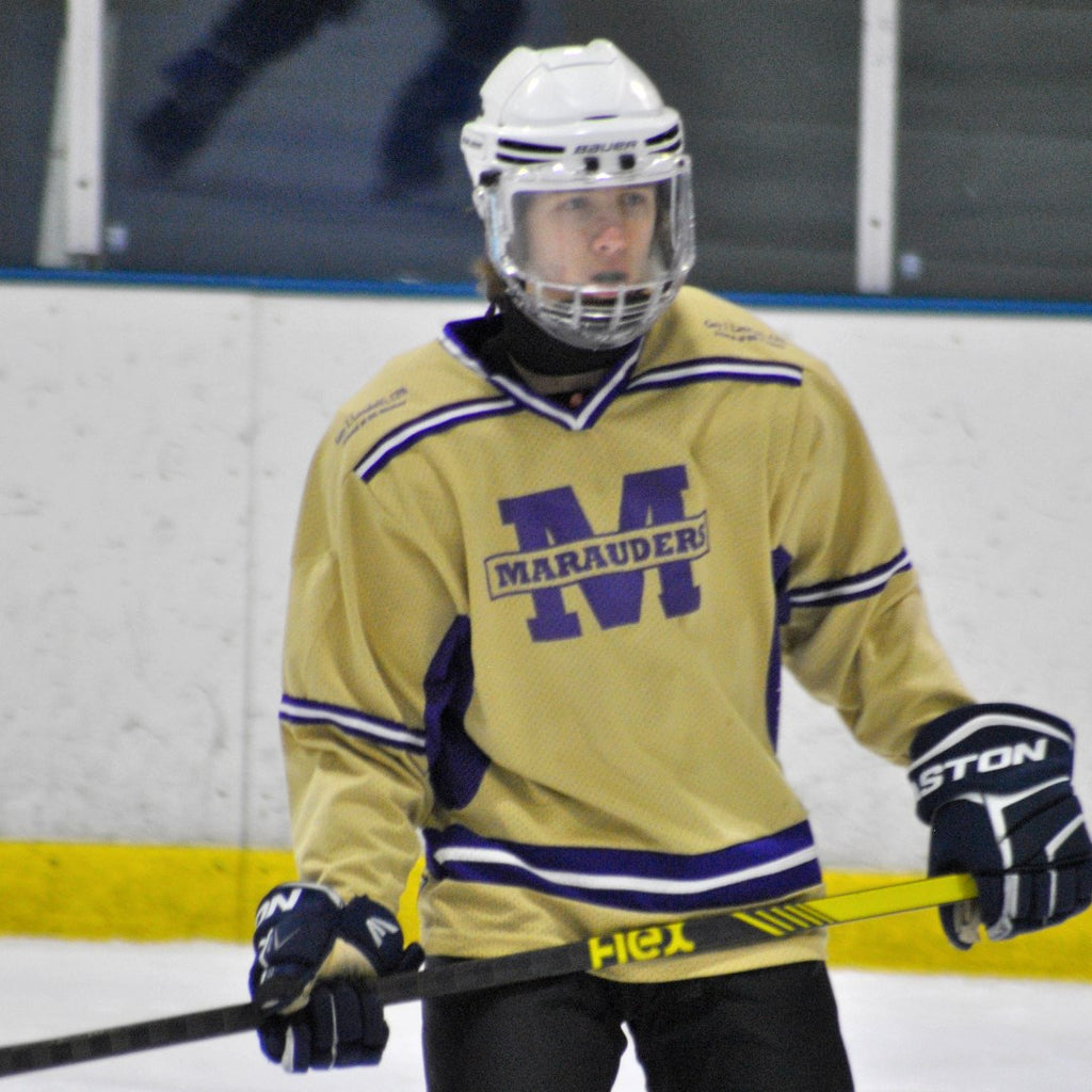 Marauders Player with Flex Hockey Stick