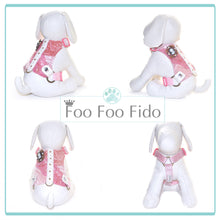 Choke Free and Adjustable Linen Dog Harness Vest in Warm Sand