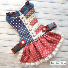 Americana Dog Harness Dress