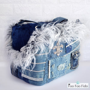 Denim Diva Dog Pet Carrier Purse