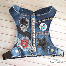 Heartbreaker Denim Fabric Dog Harness Vest