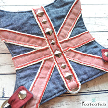 Denim and Studs Jumpin Jack Flash Dog Harness Vest