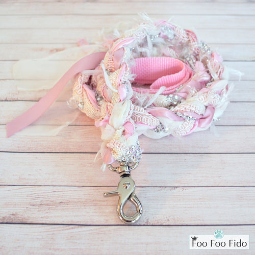 Fancy Shmancy Pink and Cream Dog Leash