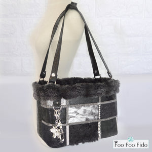 Coco Vis a Vis Leather Patchwork and Crystal Pet Carrier