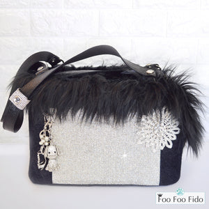 Diamonds are Forever Black Designer Pet Carrier Purse