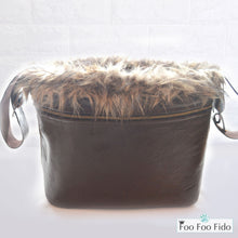 Brown Boho Fringe Bucket Dog Bag
