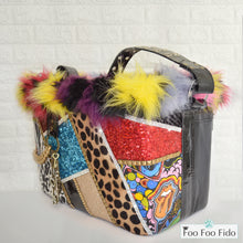 Patchwork and Studs Punk Pet Carrier Bucket Bag
