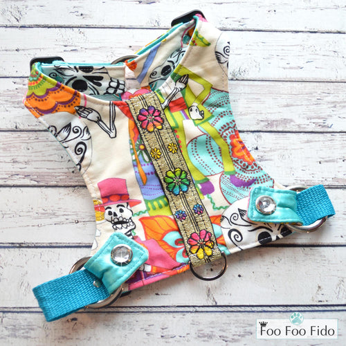 Day of the Dead Harness Vest