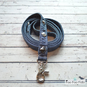 Frayed Denim Stars and Studs Glory Days Leash