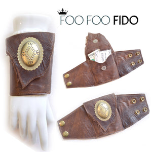 Leather Concho Wallet Cuff Wrist Wallet 3 Colors