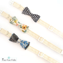 Custom Adjustable Linen Dog Collars in 8 Colors