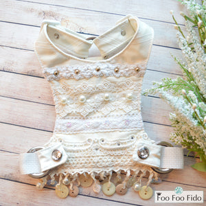 Ivory and Crochet Shabby Chic Dog Harness