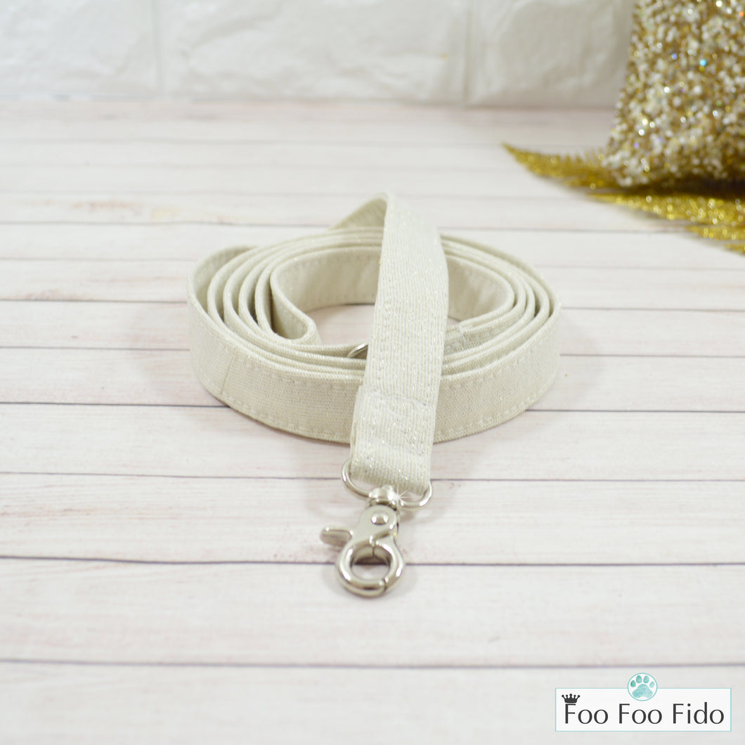 Ivory and Gold Cotton Leash