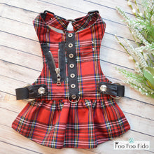 Hot for Teacher Harness Dress Red Plaid
