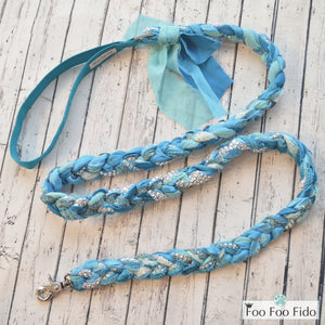 Turquoise Fancy Shmancy Leash