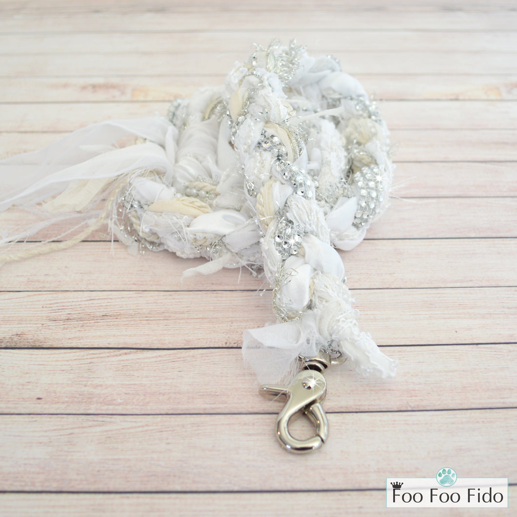 White Wedding Dog Leash