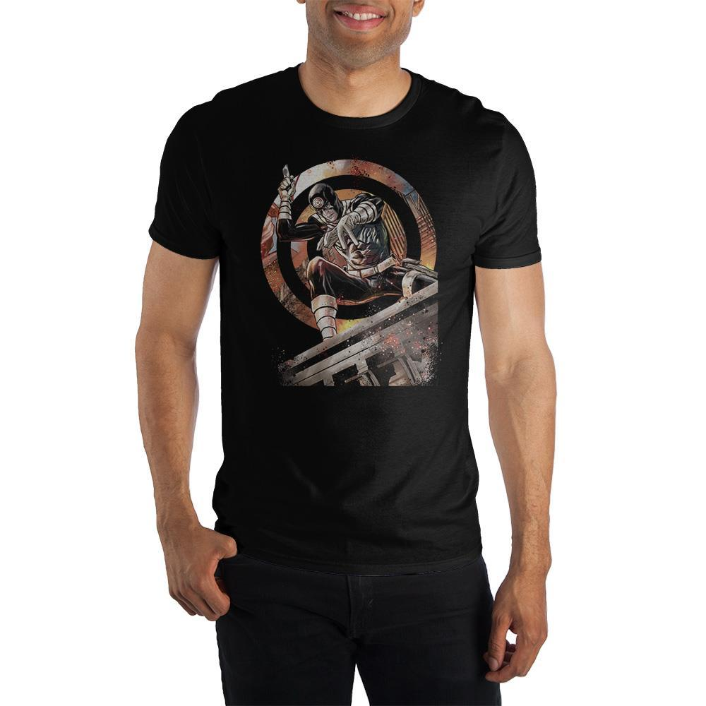Marvel Daredevil Bullseye Crew Neck Short Sleeve T shirt - SPNDER, LLC