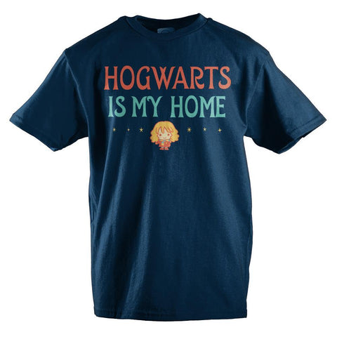 Hogwarst Is My Home Girls Graphic Tee Hermione TShirt - SPNDER, LLC
