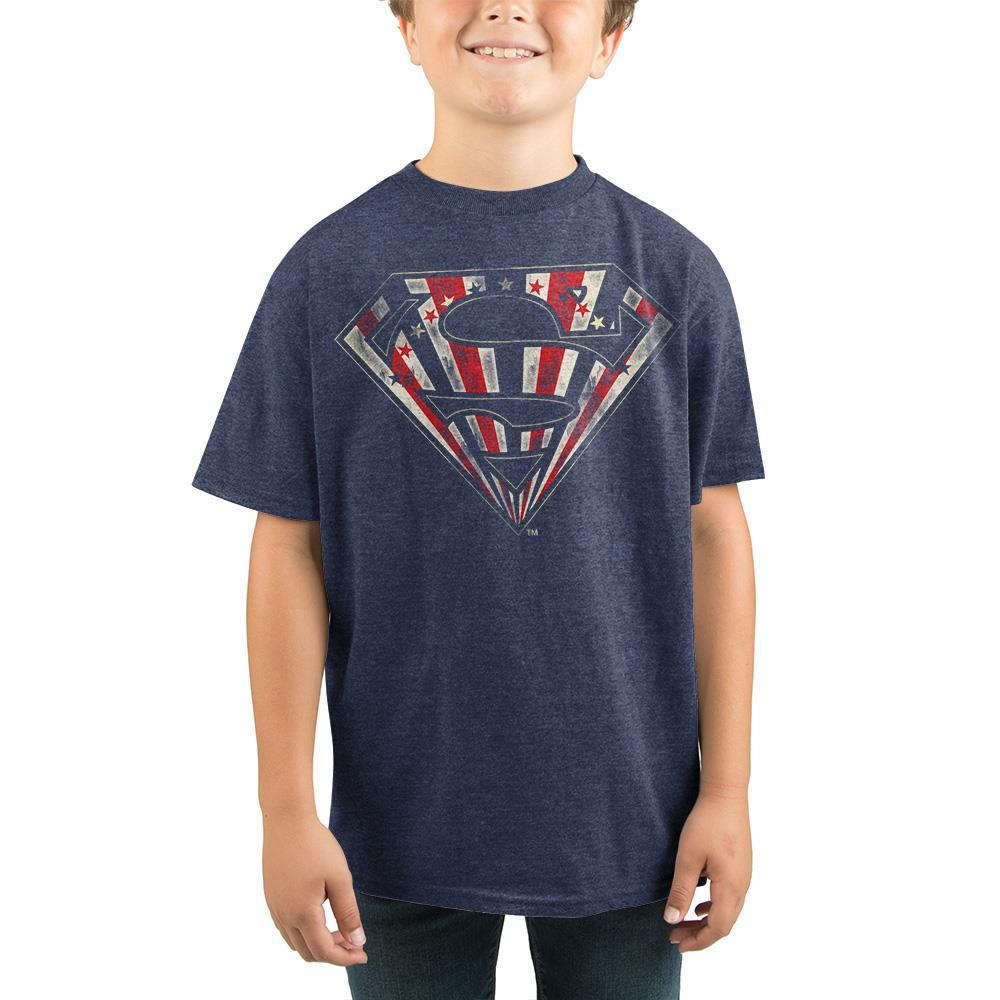 Youth Superman Shirt Boys DC Comics Apparel - SPNDER, LLC