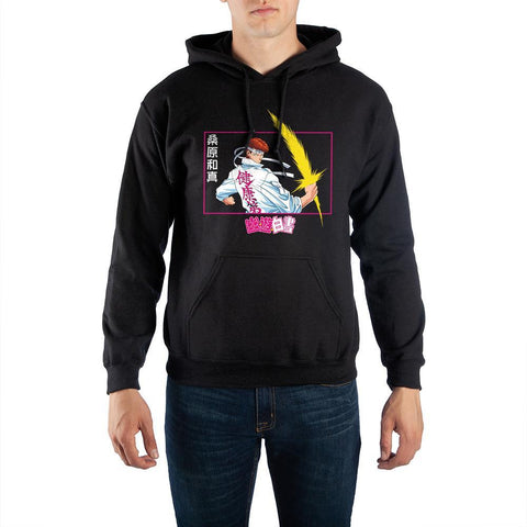 Yu Yu Hakusho Anime Mens Black Graphic Hoodie - SPNDER, LLC