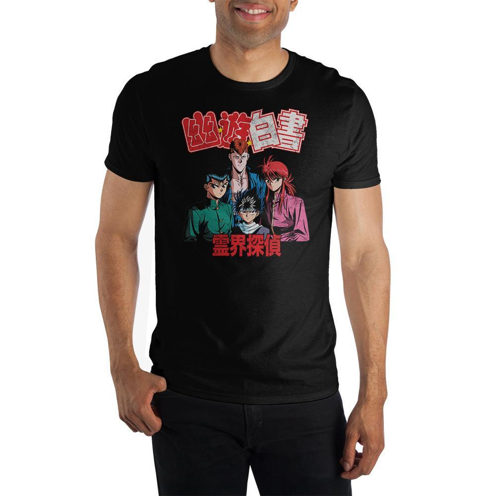 Yu Yu Hakusho Anime Cartoon Mens Black Graphic Tee - SPNDER, LLC