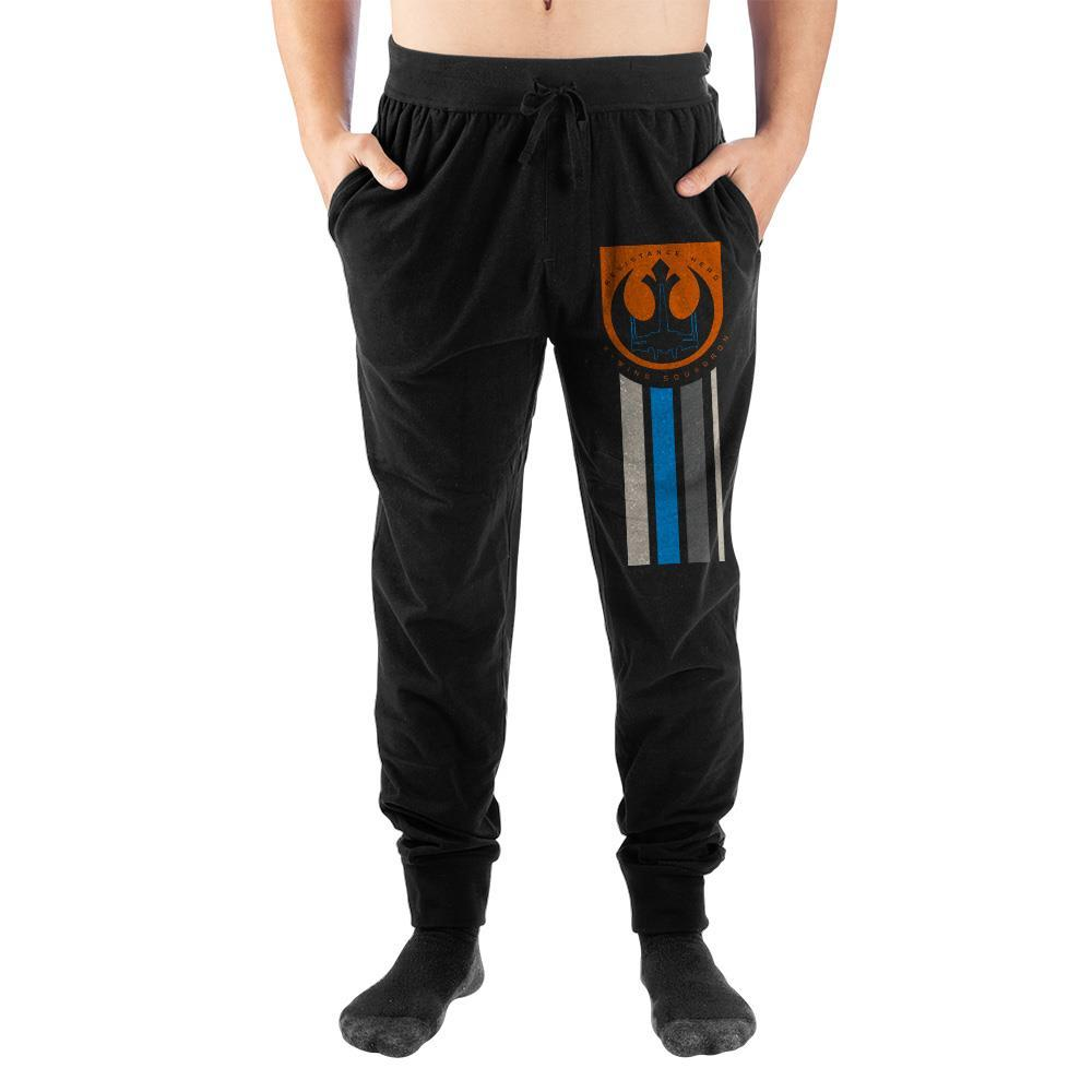 Star Wars Rebel Symbol Mens Black Joggers - SPNDER, LLC