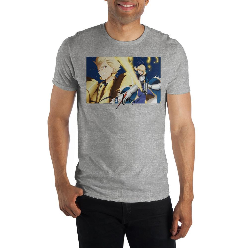 Fate Zero Anime Mens Grey Character Graphic Tee - SPNDER, LLC