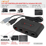 GameCube Controller Adapter For Wii PC and Nintendo Switch - SPNDER