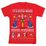 Youth Elf Ugly Christmas Sweater Boys Graphic Tee - SPNDER, LLC