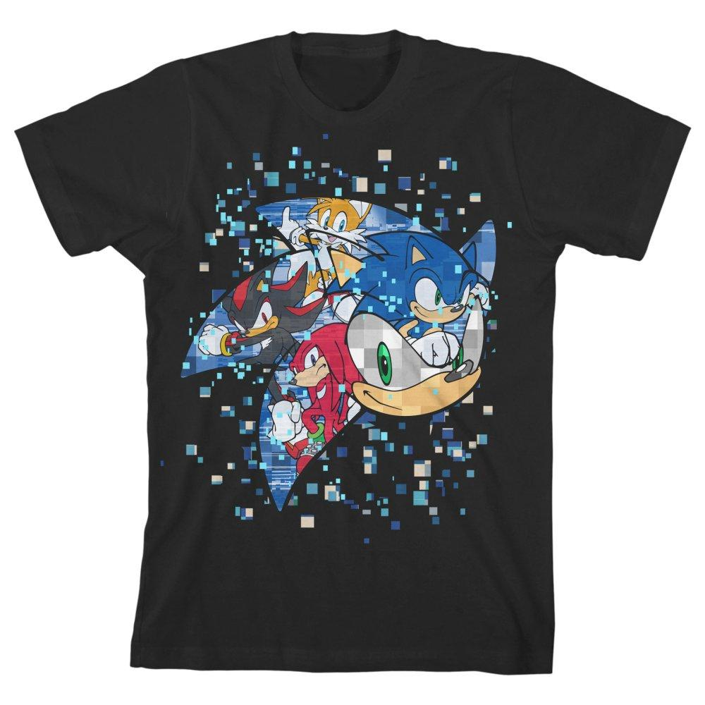 Sonic The Hedgehog Pixelated Youth Short-Sleeve T-Shirt - SPNDER, LLC
