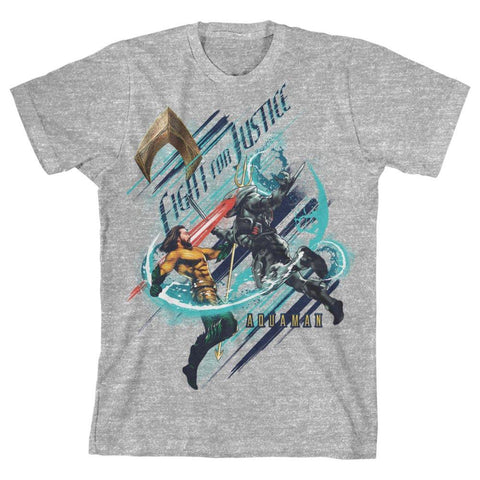Youth Aquaman fight for Justice Shirt - SPNDER, LLC