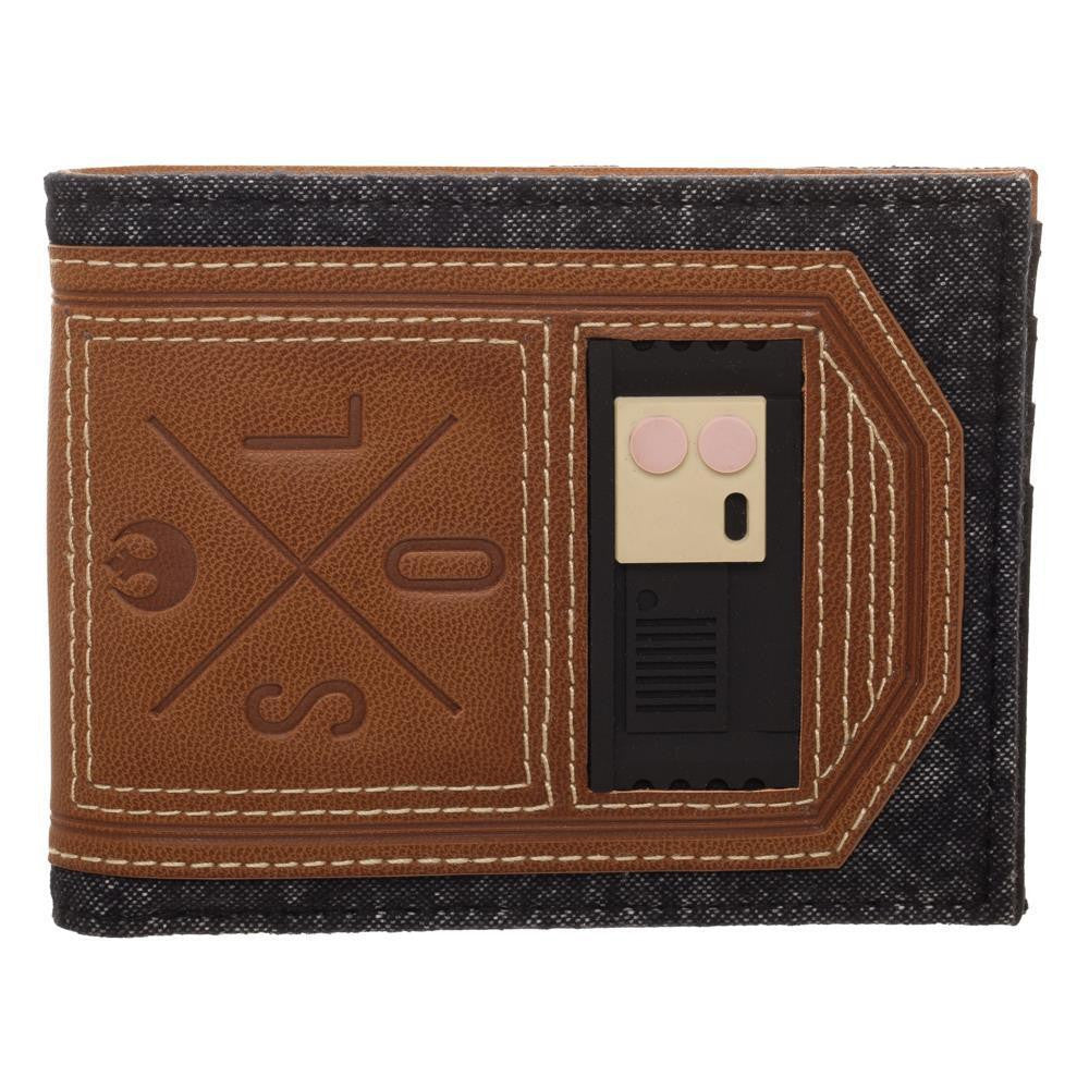 Disney Star Wars Han Solo Faux Leather Outlaw Wallet, BiFold Wallet with Character Costume Appeal - SPNDER, LLC