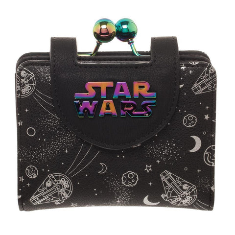 Disney Star Wars Universe Wallet & Coin Purse, Galaxy Hologram, All Over Print Space Spacecraft - SPNDER, LLC