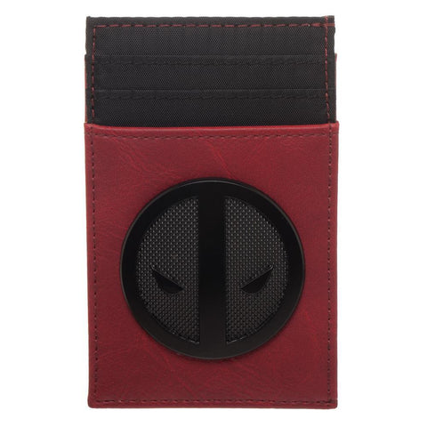 Marvel Deadpool Symbol Front Flip Wallet, Multi-Function Card Wallet with Insignia, Costume Style Anti-Hero - SPNDER