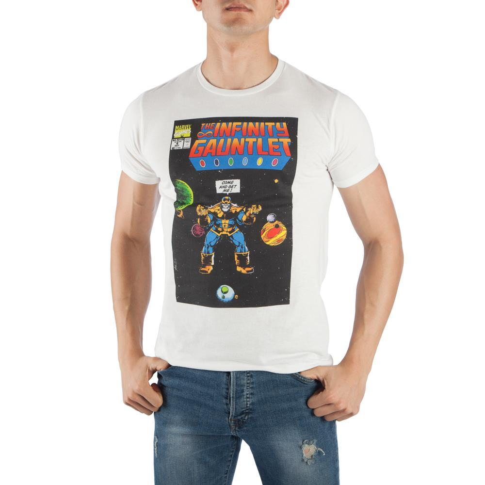 Marvel Comics Thanos The Infinity Gauntlet Men's White T-Shirt Tee Shirt - SPNDER, LLC