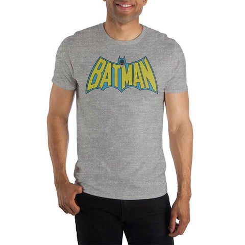DC Comics Batman Bat Shaped Batman Gray Men's Specialty Hand Print Tee Shirt T-Shirt - SPNDER, LLC