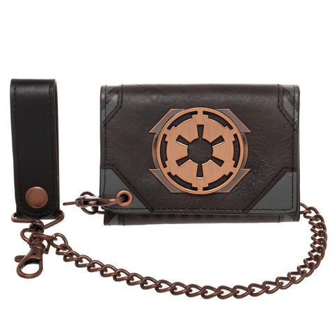 Women's Star Wars Galactic Empire Speeder Chain Trifold Wallet - SPNDER, LLC