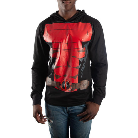Marvel Deadpool Hoodie Deadpool Cosplay Lightweight Deadpool Apparel - Deadpool Gift Marvel Deadpool Clothing - SPNDER