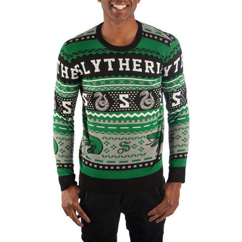 Slytherin Sweater Harry Potter Sweater Slytherin Apparel Hogwarts Sweater - SPNDER, LLC