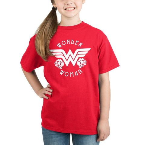 Youth Wonder Woman Shirt Girls Superhero Clothing - SPNDER, LLC