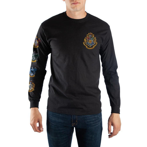 Harry Potter Hogwarts School Crest Men's Long Sleeve Shirt - SPNDER