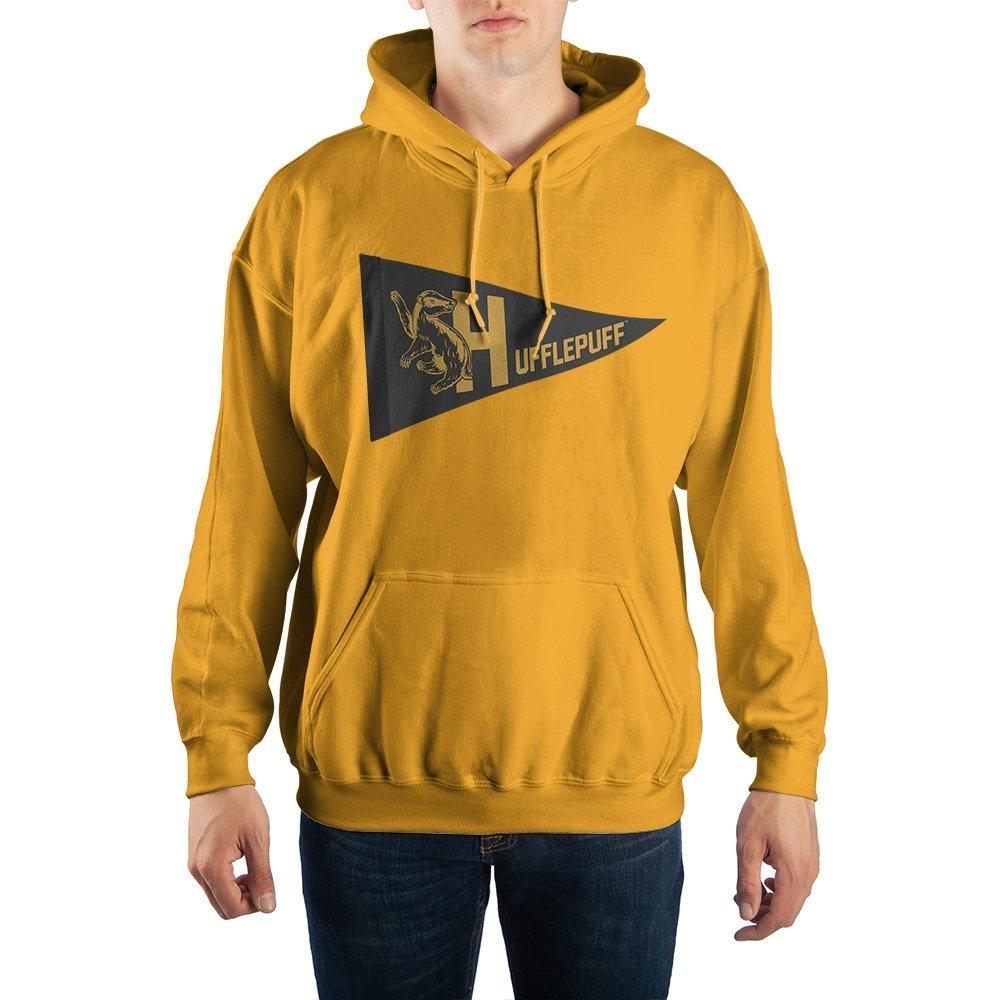 Harry Potter Hufflepuff Pennant Pullover Hooded Sweatshirt - SPNDER, LLC